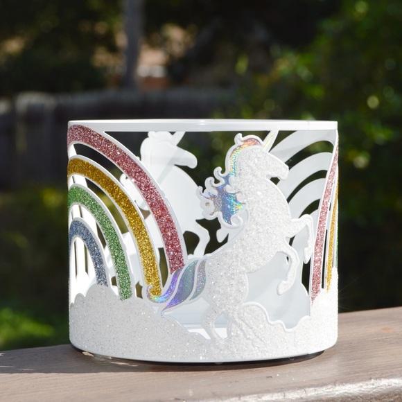 Bath & Body Works Glittery Unicorns Candle Holder
